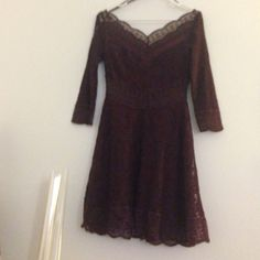 Burgundy Free People Lacey Affair Dress Never worn, no flaws  Free People Dresses