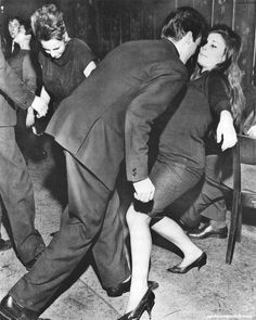"A couple dances to Shirley Ellis' ""Nitty Gritty"", 1961 - Imgur"