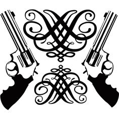 Wall Stickers Vinyl Decal Revolver Weapon Gun Mafia Police Size 56x67cm