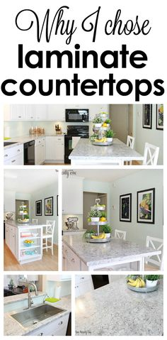 Why I chose laminate kitchen countertops instead of granite. This kitchen makeover is amazing!