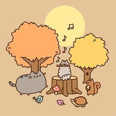 Pusheen and friends, starting a rock and roll band. Rock on, you can sing and dance just as good as you want to. Gato Pusheen, Pusheen Love, Pusheen Stuff, Pusheen Stormy, Animals And Pets, Cute Animals, Images Kawaii, Grey Tabby Cats, Simons Cat