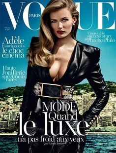 Vogue Paris October 2013 Cover In this picture: Edita Vilkeviciute Credits for this picture: Mario Testino (Photographer) Emmanuelle Alt (Editor) James Pecis (Hair Stylist) Yadim (Makeup Artist)