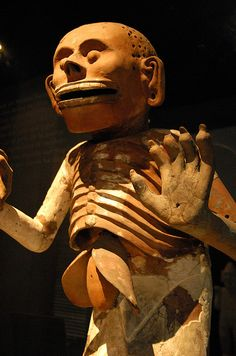 Mictlantecuhtli, the Aztec god of the dead and ruler of Mictlan, the lowest region of the underworld.  Templo Mayor Museum, Mexico City