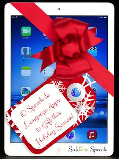 10 Speech & Language Apps to Gift this Holiday Season! - pinned by @PediaStaff – Please Visit ht.ly/63sNtfor all our pediatric therapy pins