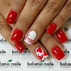 17 red hot Valentine's nails for 2018 - Nail Art HQ Valentine's Day Nail Designs, Acrylic Nail Designs, Nails Design, Acrylic Nails, Acrylic Art, Coffin Nails, Red Nail Art, Red Nails, Red Art