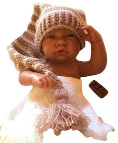 Pixie hat for baby from 0 to 3 months Circumference : cm (Stretchable stitch) Length of the tail : 53 cm Realized completely in the hook with the biggest care in acrylic. Etsy Seller, Creations, Winter Hats, Crochet Hats, Boutique, Shopping, Fashion, Reborn Babies, Bebe