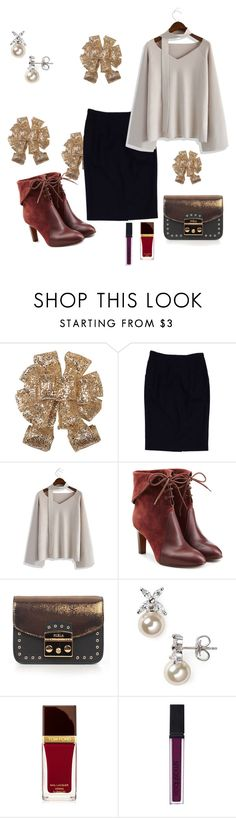 """""""Untitled #1083"""" by lamiss-siyani ❤ liked on Polyvore featuring Alberta Ferretti, Chicwish, Chloé, Furla, Majorica, Tom Ford and Smashbox"""