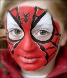 Spidey by Claire Guest at http://www.fascinatingfaces.co.uk