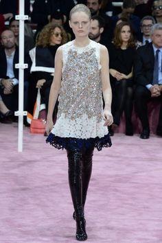 Dior Couture vestito svasatoAbito bianco e nero svasato della collezione Dior Couture primavera/estate 2015