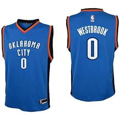 8b23fcd9c1b Outerstuff Youth Russell Westbrook Oklahoma City Thunder #0 Road Jersey  Blue (Youth Large 14