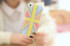 Colorful Flag Pattern iPhone 5/5S Slim Hard Clear Cell by ATHiNGZ, $9.99