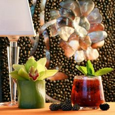 Available at Wynn Las #Vegas....  The Sinatra Smash  5 fresh blackberries 1 1/2 oz fresh sweet & sour (see recipe below) 2 oz Gentleman Jack Tennessee whiskey 3/4 oz Biotett Creme de Cassis 1/2 oz Sonoma Vanilla infused Simple Syrup  In a bar mixing glass, muddle the blackberries with the sweet & sour. Add the remaining ingredients and shake with ice until chilled.  Strain over fresh ice into a double old fashioned glass. Garnish with a mint top Serve