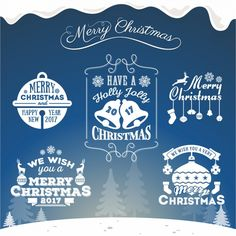 Christmas designs collection Free Vector