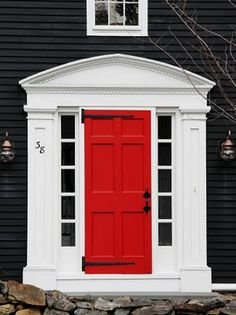 Our house will have slate colored shale to replace the brick, and dark grey siding with a blood red door! Mmm yes...