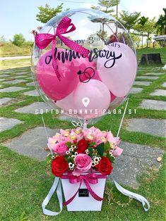 Balloon Crafts, Birthday Balloon Decorations, Balloon Gift, Valentines Day Decorations, Birthday Balloons, Air Balloon, Balloon Arrangements, Balloon Centerpieces, Balloon Flowers
