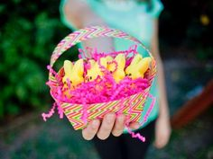 The holiday experts at share easy instructions on how to make a duct tape Easter basket using HGTV's free printable basket template. Duct Tape Projects, Duck Tape Crafts, Craft Stick Crafts, Easy Crafts, Diy Projects, Diy Ostern, Easter Colors, Easter Crafts For Kids, Easter Decor