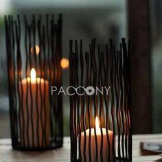Modern European Arts Wrought Iron Candle Holders - loooove