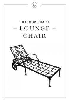 relax the dayu0027s worries away by spending the evening in the vienna cast aluminum chaise lounge chair this cast aluminum chair is designed for use with a