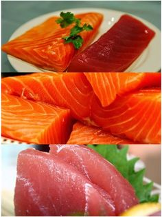 Home-style Sashimi ! Sushi Recipes, Asian Recipes, Delicious Dishes, Yummy Food, Best Low Carb Snacks, Seafood Diet, Sushi Time, Wontons, Sushi Rolls