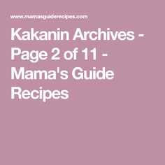 Kakanin Archives - Page 2 of 11 - Mama's Guide Recipes