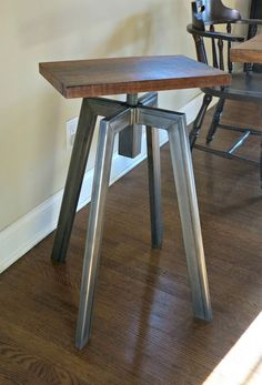 Custom Made Industrial Inspired Bar Stool
