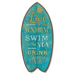 Vintage-Weathered-Inspirational-Live-in-Sunshine-Mini-Surfboard-Plaque-Decor-11