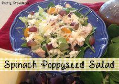 Spinach Poppyseed Salad - Pretty Providence