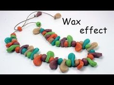 Quickie Video: How to add was crayons to translucent beads clay and make beads. #Polymer #Clay #Tutorials