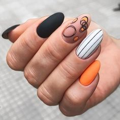 Halloween Acrylic Nails, Cute Acrylic Nails, Acrylic Nail Designs, Hot Nails, Pink Nails, Hair And Nails, Nail Design Glitter, Glitter Nails, Nails Design
