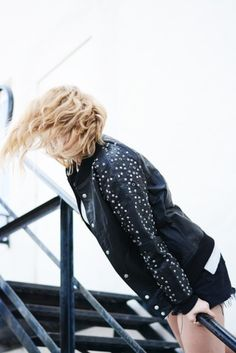 Not your boyfriend's varsity jacket. // A Team Varsity Beaded Jacket