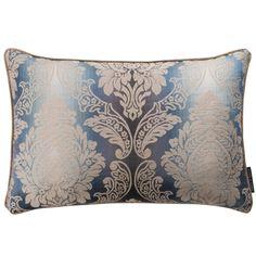 Ornato Damask Aqua Rectangular Cushion