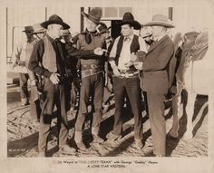 THE LUCKY TEXAN - John Wayne (pictured) - George Hayes - Yakima Canutt (pictured) - A Lone Star Western - Publicity Still.