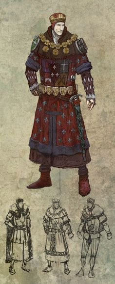 The Witcher 2 Concept Art: Foltest