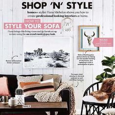 So chuffed to see our bull skull print in magazine, along side a bunch of great Aussie designers! Styled by :) Modern Interior, Interior Styling, Interior Design, Gypsy Look, Bull Skulls, Wall Decor, Wall Art, Skull Print, Modern Boho