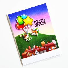 Stamps: Balloon Bunch Christmas, Saying Stuff / Stencils: Freshly Cut Christmas Balloons, Clear Stamps, Elf, Snowman, Christmas Ideas, Card Ideas, Stencils, Backdrops, Card Making