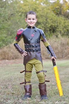 "DIY Hiccup Costume...from ""How To Train Your Dragon 2"" 