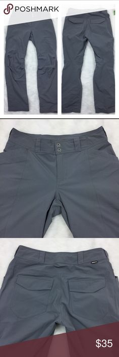 """REI Nylon Outdoor Hiking Pants Size 8 Nice outdoor pants from REI Co-op 88% Nylon 12% Spandex with waist adjustments and lots of pockets.  These pants also have an articulated knee and snap up pant legs.  These pants are in very good condition. Measurements flat  Rise 9"""" Waist 15.5"""" Inseam 31"""" Location R13 REI Pants Track Pants & Joggers"""