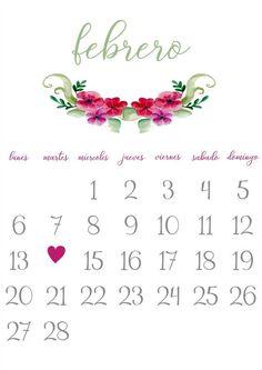 Imprimible: Calendario Febrero 2017