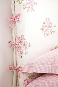 headboard slipcover. Hate the fabric and ties but love the idea. Could easily be modified.
