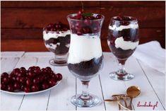 Jogurtowy deser na zimno (bez cukru) - I Love Bake Polish To English, Black Forest Cake, Panna Cotta, Pudding, Snacks, Baking, Ethnic Recipes, Sweets, Dulce De Leche