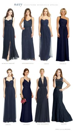 Love these picks from Dress for the Wedding for navy bridesmaids dresses! bridesmaid dress, cheap bridesmaid dresses, long bridesmaid dresses