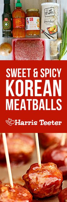 Sweet and spicy, these Korean meatballs are a perfect app or a great dinner served along with some rice and steamed snow peas.