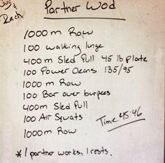 Partner WOD leg day #crossfit