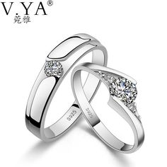 1 Pair of Silver Lover's Ring S925. 1 Pair of Lover's Ring S925 Solid Silver Rings for Lover Jewelry 100% Real Genuine 925 Sterling Silver Ring ,A1 tell us the size Item Type: RingsFine or Fashion: FashionStyle: ClassicMaterial: CrystalSetting Type: Prong SettingOccasion: EngagementShape\pattern: RoundGender: lovers'Brand Name: V.YARings Type: Bridal SetsModel Number: R01Metals Type: 925 sterling silverNote: please tell us which size you need when you buy SIZE CHART: Ring...