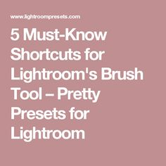 5 Must-Know Shortcuts for Lightroom's Brush Tool – Pretty Presets for Lightroom