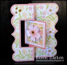 Altered Scrapbooking: Floral Fancy Flip-It Card
