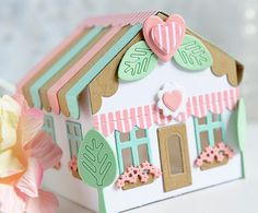 My Joyful Moments: PTI Tiny Town: Sweet Shoppe Die set + Petite Places: Pop Up Trees