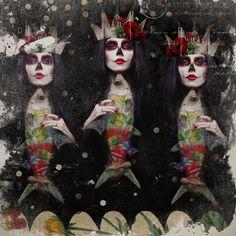 Woman:  Calavera Stock @ DeviantArt. Elements: TFS @ Mischief Circus. Texture:  SkeletalMess.