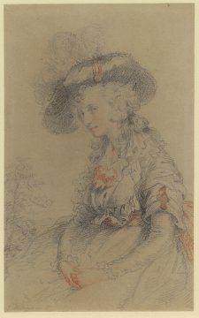 Portrait of a Lady, Probably Mrs Hoppner, John Hoppner, ca. 1785; BM 1896,0710.32