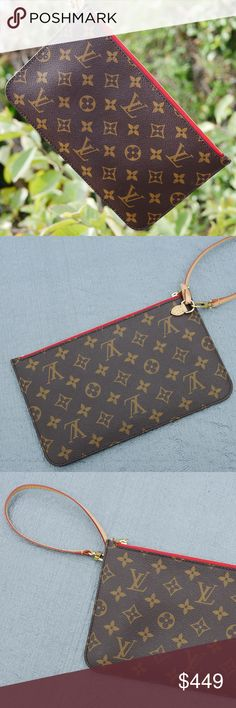 Louis Vuitton Neverfull Pouch (Monogram) ✨Virtually brand new! 10/10 ✨ Never used! ✨Originally came with my Neverfull MM ✨Selling it because I never used it! Louis Vuitton Bags Clutches & Wristlets